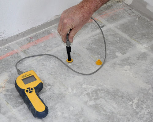 Inspecting And Testing Subfloors Measuring Moisture And